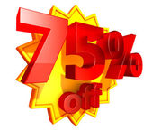 75 Percent price off — Stock Photo
