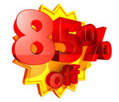 85 Percent price off — Stock Photo
