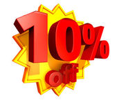 10 Percent price off — Stock Photo