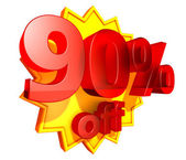 90 Percent price off — Stock Photo
