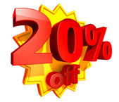 20 Percent price off — Stock Photo
