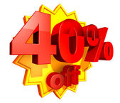 40 Percent price off — Stock Photo