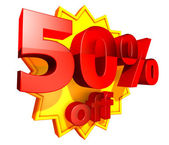 50 Percent price off — Stock Photo