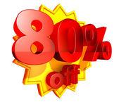 80 Percent price off — Stock Photo