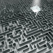 Grey labyrinth - Stock Photo