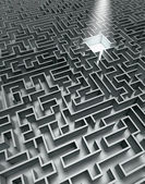 Grey labyrinth — Stock Photo