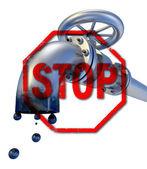 Oil STOP — Stock Photo