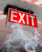 Exit sign — Stock fotografie