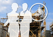 Architect and constructor — Stock Photo