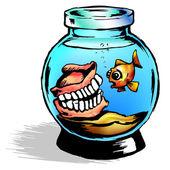 Funny aquarium — Stock Photo