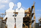 Arichitect and constructor — Stock Photo
