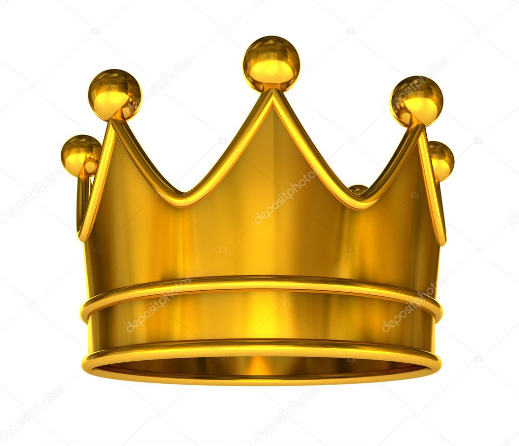 Golden crown isolated on a white background — Stock Photo #3869796