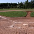 Stock Photo: Unoccupied Baseball Field