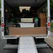 Stock Photo: Loaded Moving Truck