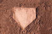 Dusty Home Plate — Stock Photo