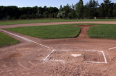Unoccupied Baseball Field — Stock Photo