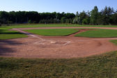 Baseball Field Shadows — Stock Photo