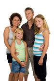 Happy family in studio — Stock Photo
