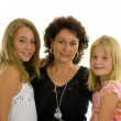 Mother with her two daughters — Stock Photo