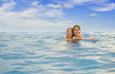 Sisters in the sea — Stock Photo