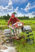 Hard working asian farmer — Stock Photo