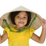 Asian farmer girl with missing teeth — Stock Photo #3756979