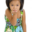 Little girl blowing a kiss — Stock Photo