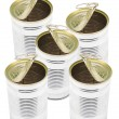 Ringpull Tin Cans — Stockfoto