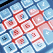 Stock Photo: Calculator and Jigsaw Puzzle