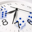 Clock and Dice — Foto Stock
