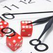 Clock and Dice — Stock Photo #3212351