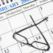 Calendar and Eyeglasses — Stock Photo