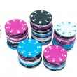 Stock Photo: Stacks of Poker Chips