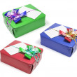 Gift Boxes with Ribbons - Stock Photo