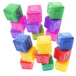 cubes alphabet en plastique — Photo