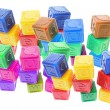 Plastic Alphabet Cubes — Stock Photo #3213093