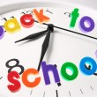 Back to School and Clock — Stock Photo