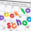 Back to School and Calendar — Stock Photo