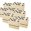 Stacks of Dominoes — Stock Photo