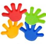Plastic Toy Hands — Stock Photo