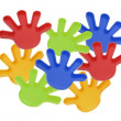 Plastic Toy Hands — Stock Photo #3214319