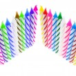 Stock Photo: Rows of Birthday Candles