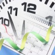 Stock Photo: Clock and Calendar