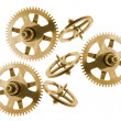 Clock Gear Wheels — Stock Photo