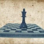 koning Schaakstuk op schaakbord — Stockfoto
