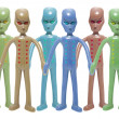 Toy Alien Figures - Stock Photo