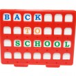 Stock Photo: Back to School Alphabets