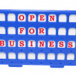 Stock Photo: Open for Business Sign