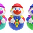 Roly-Poly Toy Clowns — Stock Photo