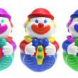 Roly-Poly Toy Clowns — Foto Stock
